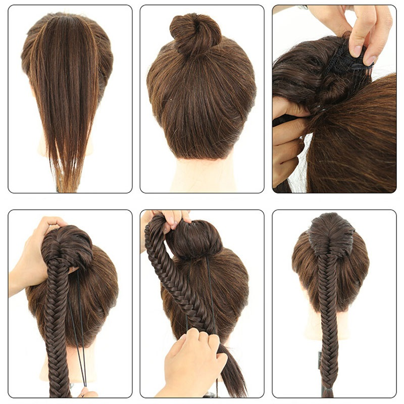 Коса из искусственных волос. Как крепить