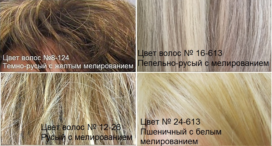 Искусственные волосы. Цвета волос с мелированием