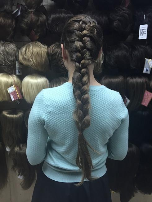 накладная коса вид сзади