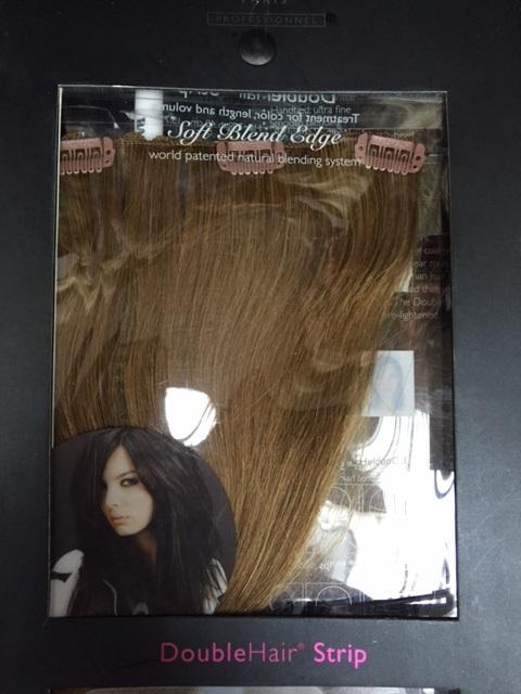 Затылочная прядь из натуральных волос на заколках