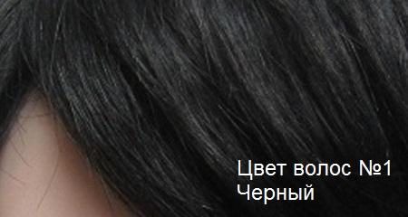 Натуральные волосы. Цвет волос черный.