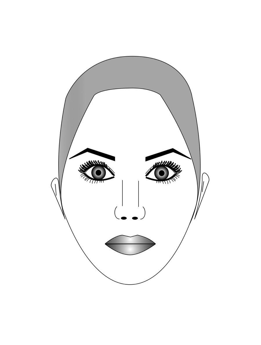 Форма лица ромб (бриллиант)
