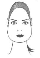 Форма лица груша