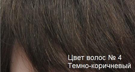 Натуральные волосы. Цвет волос темно-коричневый.