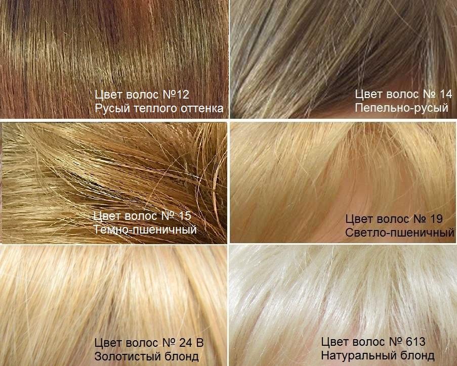 Натуральные волосы. Светлые оттенки волос