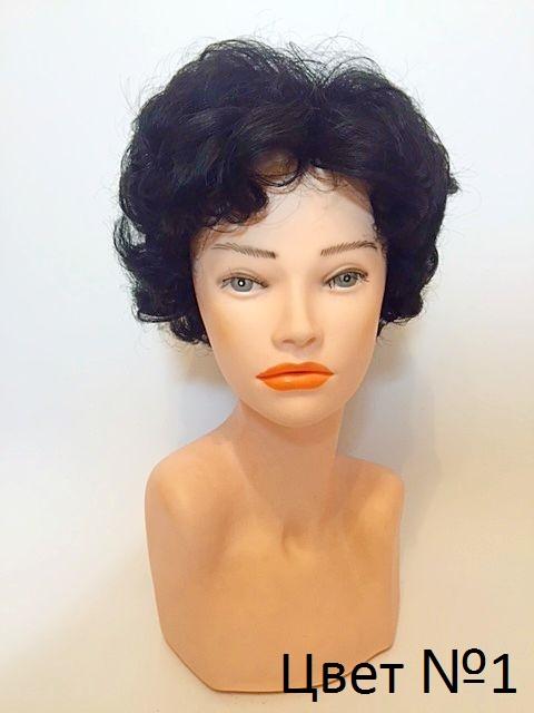 Женский натуральный парик цвет черный