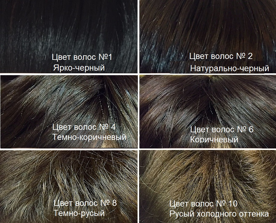 Искусственные волосы. Темные оттенки волос