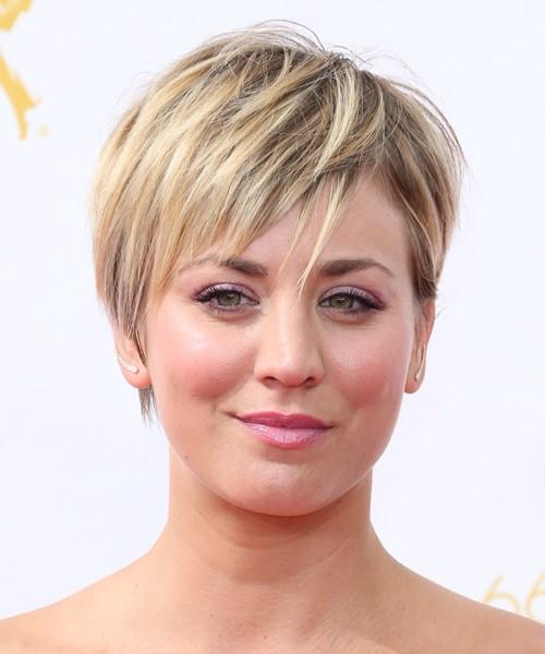 Причёски для полного лица на короткие волосы