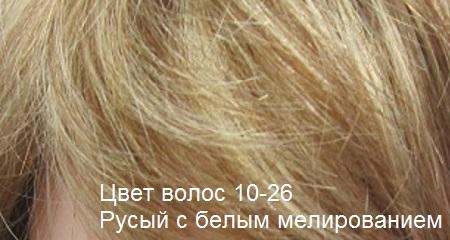 Натуральные волосы. Цвет волос русый с белым мелированием.