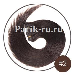 Натуральные волосы на заколках цвета