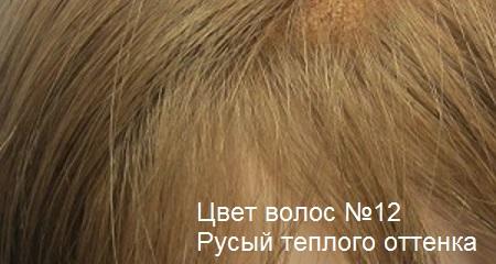 Натуральные волосы. Цвет волос русый теплого оттенка.